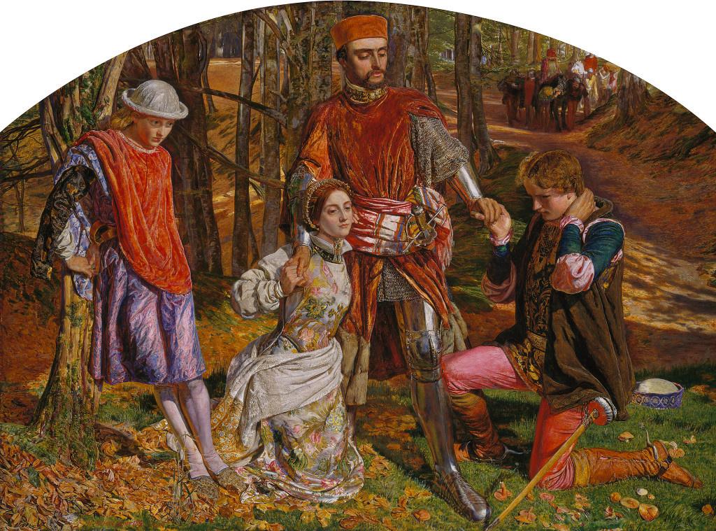 William Holman Hunt. Two gentlemen of Verona (Valentine rescues Sylvia from Proteus)
