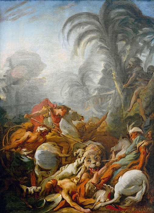 Francois Boucher. Hunting tigers
