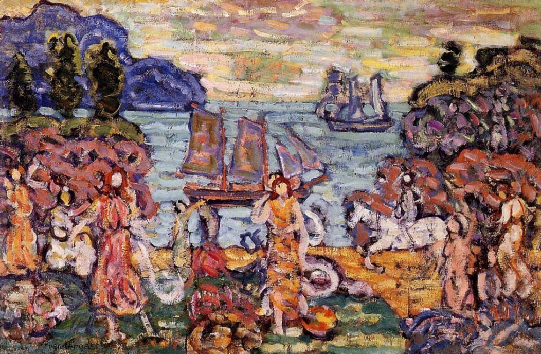 Maurice Braziel Prendergast. On the shore
