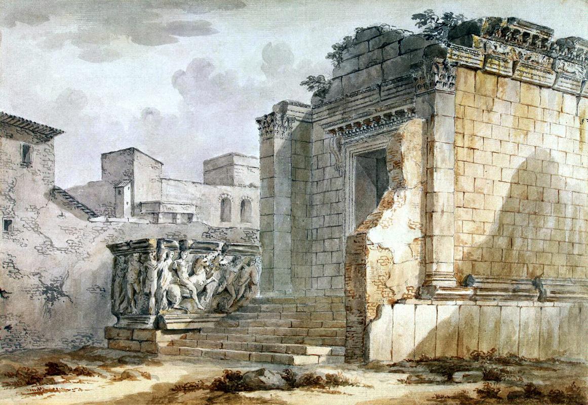 Шарль-Луи Клериссо. Храм Эскулапа во дворце Диоклетиана