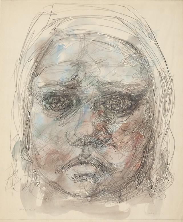 Dorothea Tunning. The girl's head
