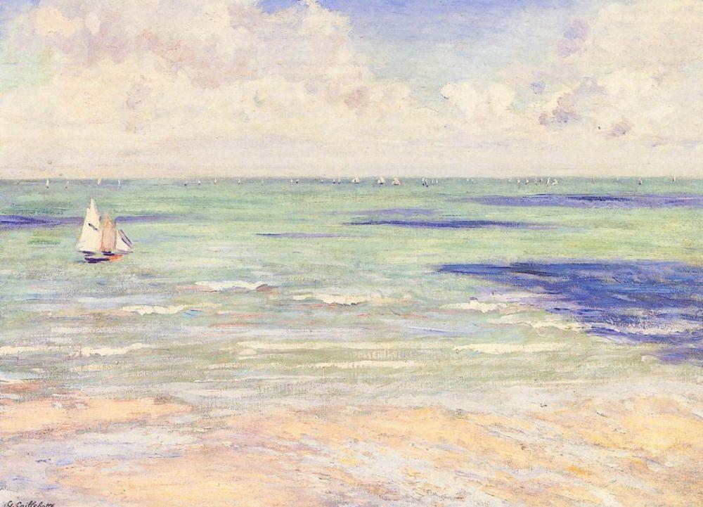 Гюстав Кайботт. Морской пейзаж. Регаты в Виллерсе