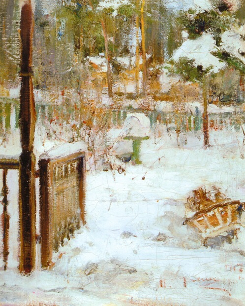 Nikolay Feshin. Winter landscape.