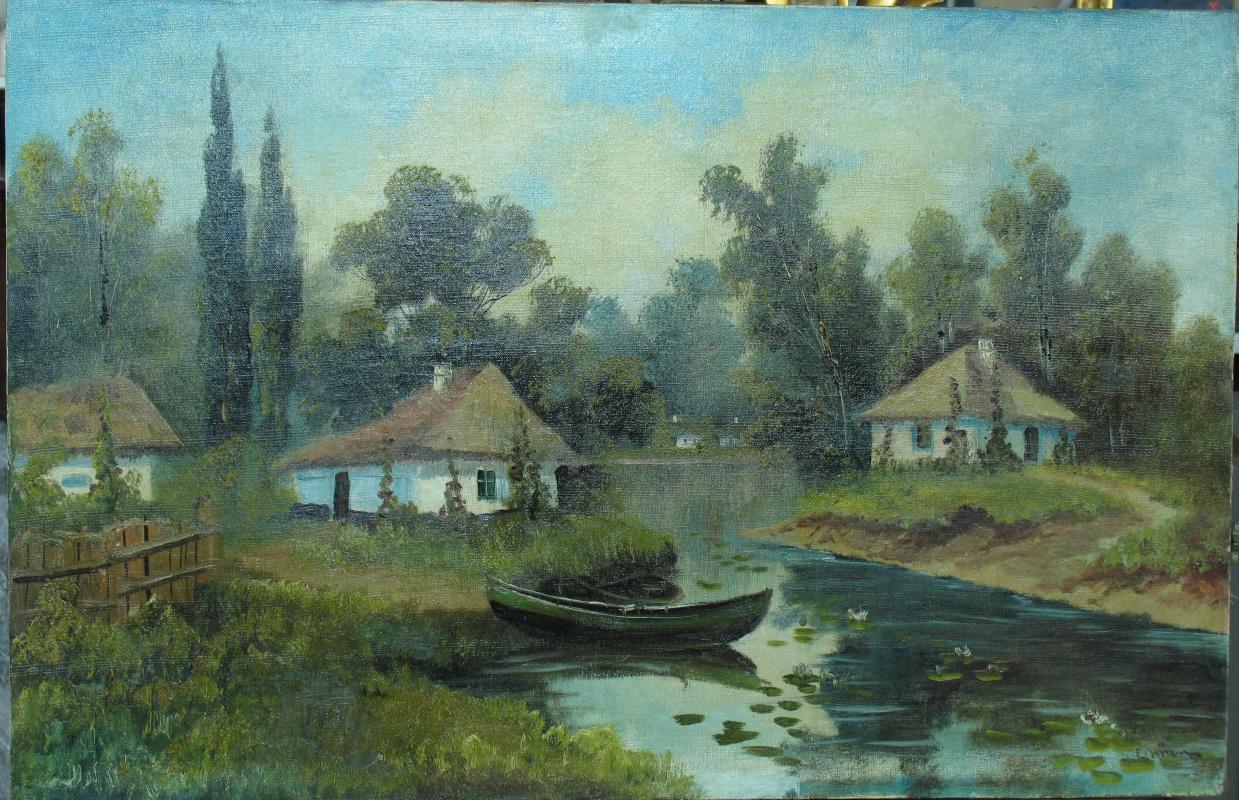 Eugene Ksaverevich Vzhesh (Vrsche). Farm near the pond