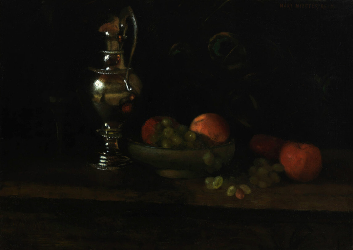 Mary Augusta Hister Reed. Still life with a silver jug