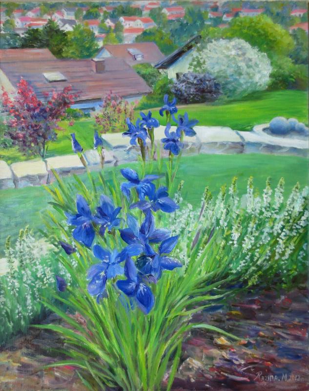 Marina Dmitrievna Razin. Garden in Oxenhausen, Germany