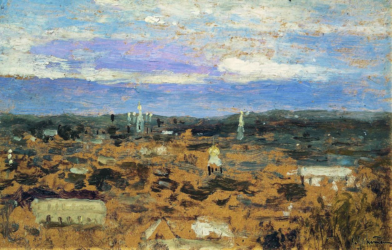 Исаак Ильич Левитан. Пейзаж с монастырем