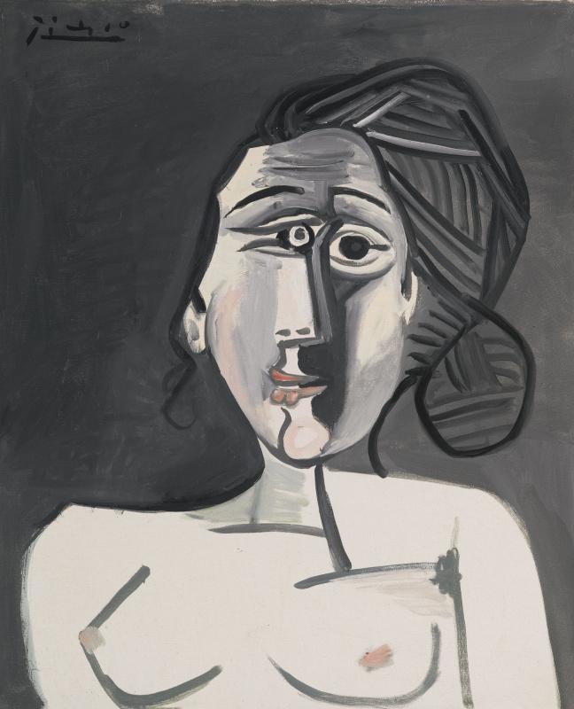 Pablo Picasso. Bust of a woman (françoise Gilot)