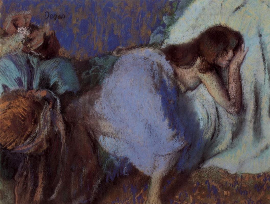 Эдгар Дега. Девушка, отдыхающая на кровати