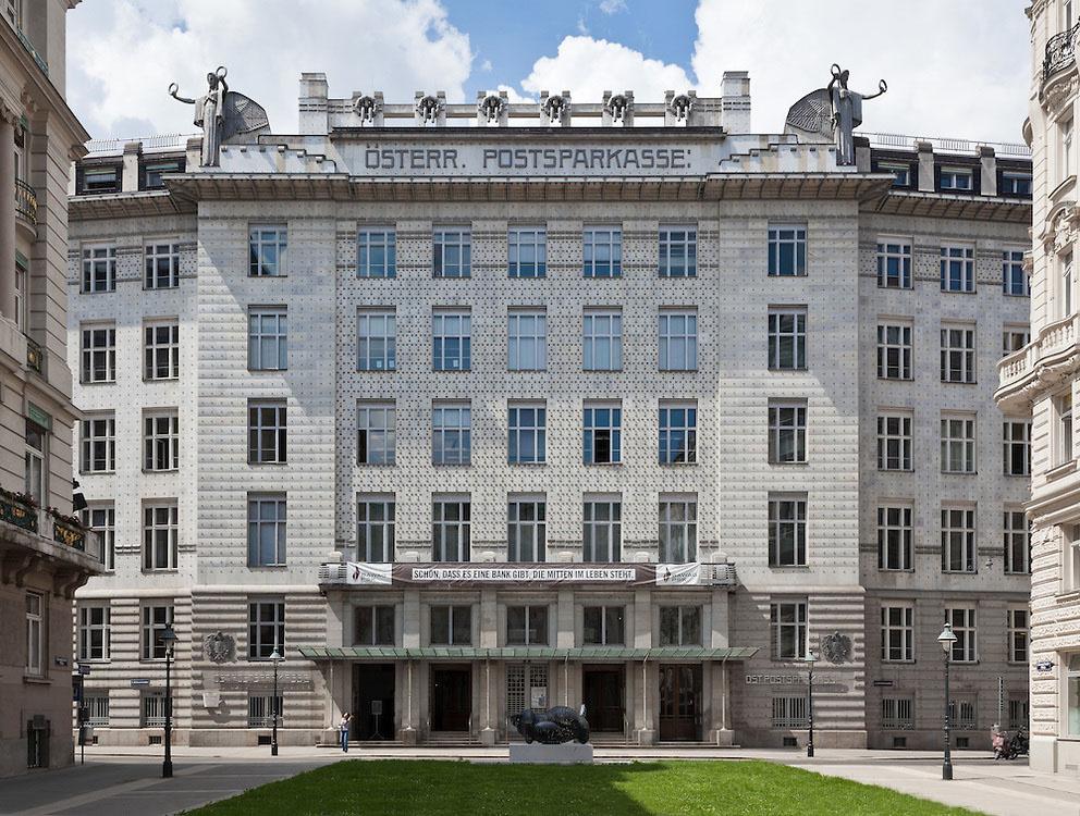 Отто Вагнер. Фасад австрийский Почтовый Сберегательный банк (австрийский почтовый Сберегательный банк)
