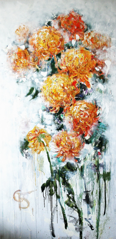 """Anastasiya Bernie. """"Yellow  Chrysanthemums"""""""