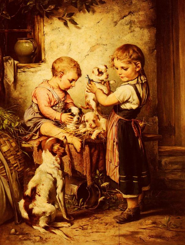 Карл Швенингер. Любовь к щенкам