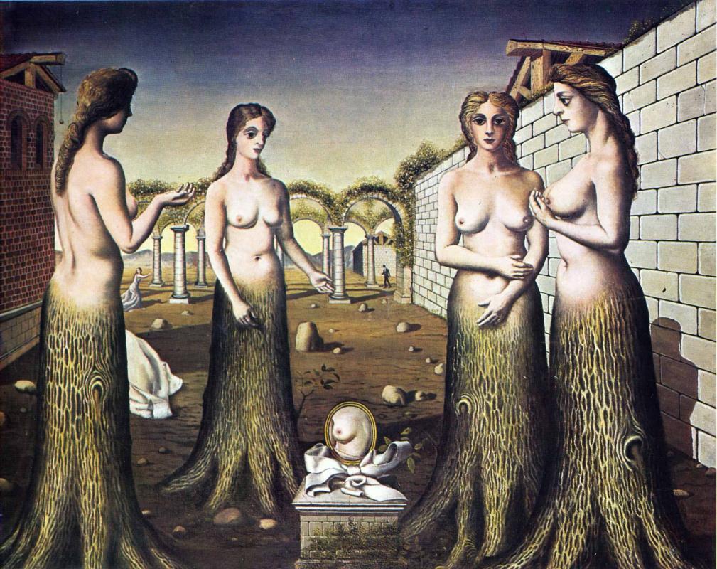 Paul Delvaux. Girls-trees