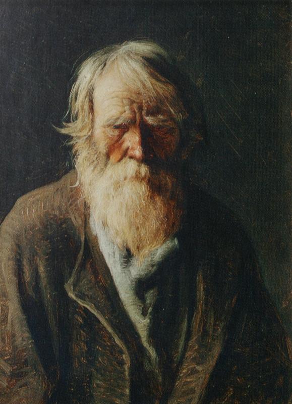 Абрам Ефимович Архипов. Слепой старик. Этюд