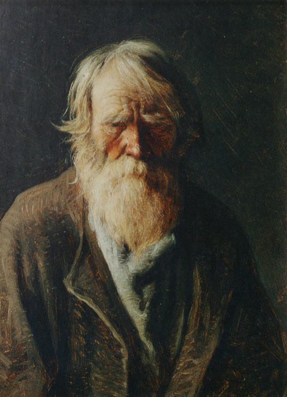 Abram Arkhipov. A blind old man. Etude
