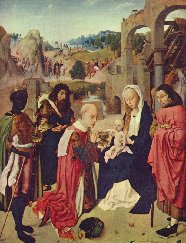 Hertgen the one Sint-Jans. The adoration of the Magi