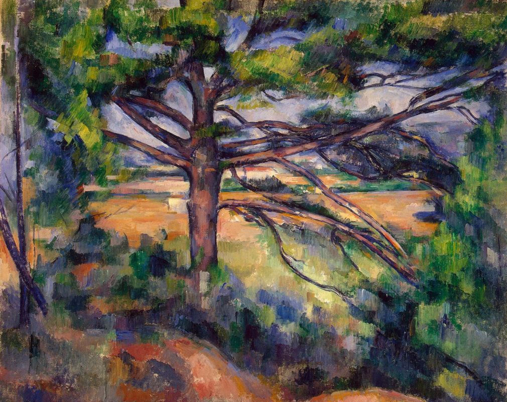 Paul Cezanne. Great pine tree near AIX