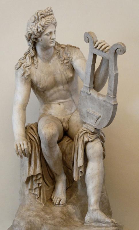 Античная  статуя. Аполлон Кифаред