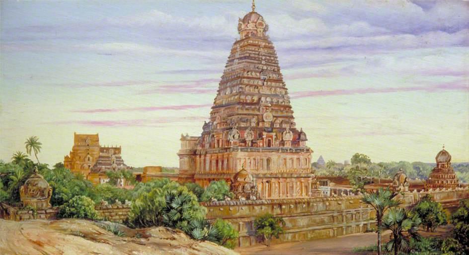 Марианна Норт. Храм в Танджоре, Южная Индия