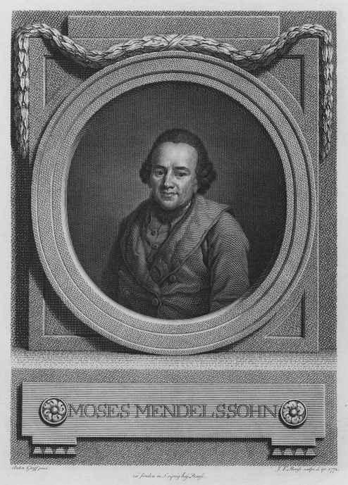 Johann Friedrich Bauze. Portrait Of Moses Mendelssohn