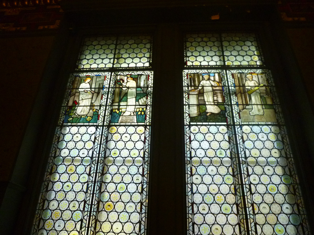 William Morris. Stained glass windows of Morris's room, London