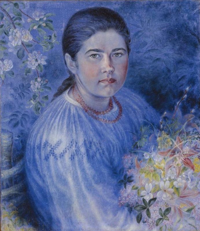 Kateryna Vasylivna Bilokur. Portrait Of Hope Bilokur