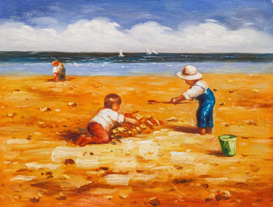 Maria Potapova. Дети на пляже