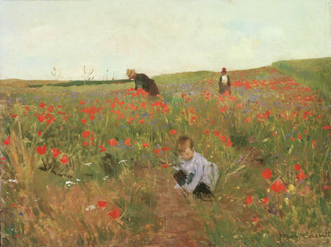 Mary Cassatt. Poppies in the field