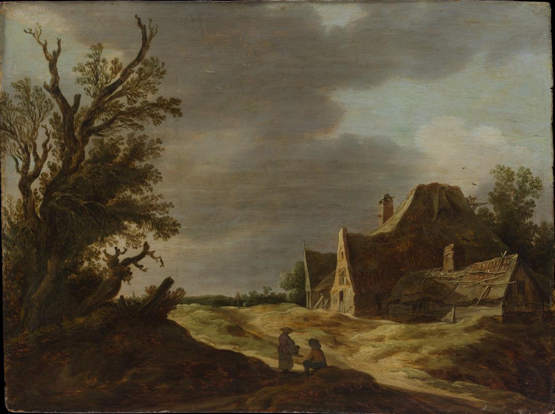 Jan van Goyen. Sandy road and farm