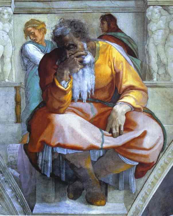 Микеланджело Буонарроти. Пророк Иеремия.