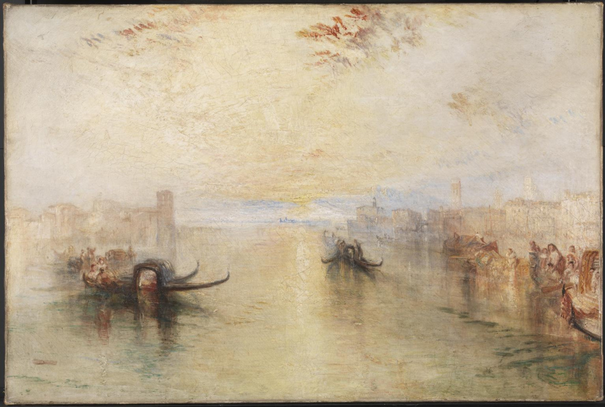 Joseph Mallord William Turner. Venice San Benedetto with view of the estuary channel