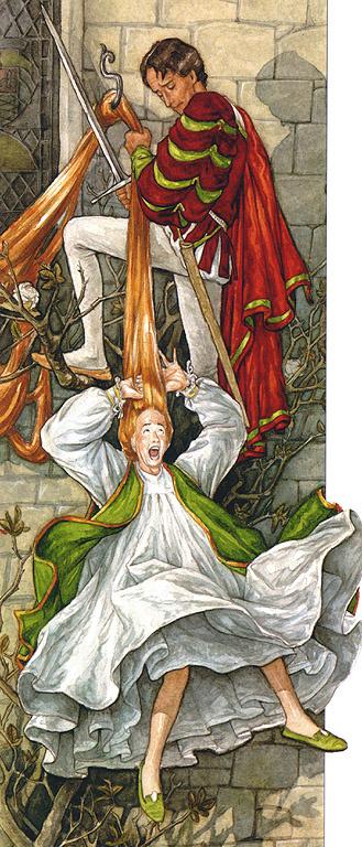 Patrick James Lynch. Illustration to the book Melisande 14