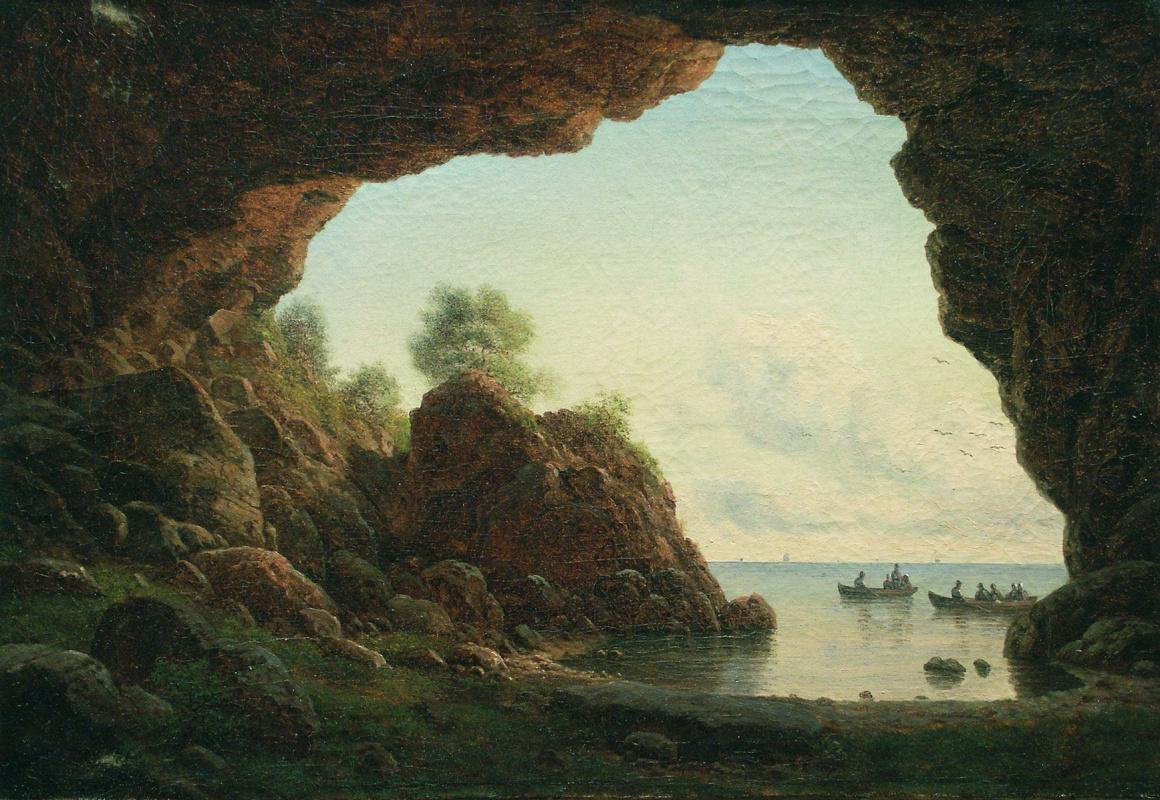 Лев Феликсович Лагорио. Вид из грота на море