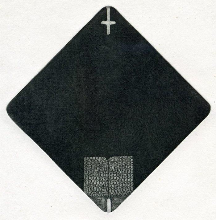 Alexander Dmitrievich Aksinin. Bookplate to the 1500-anniversary of St. Benedict