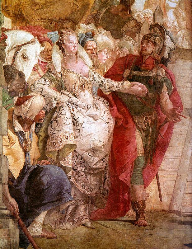 Джованни Баттиста Тьеполо. Встреча Антония и Клеопатры