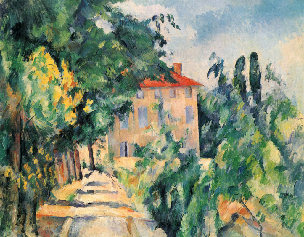 Paul Cezanne. The house with the red roof