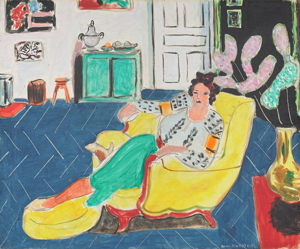 Henri Matisse. Woman sitting in a yellow armchair