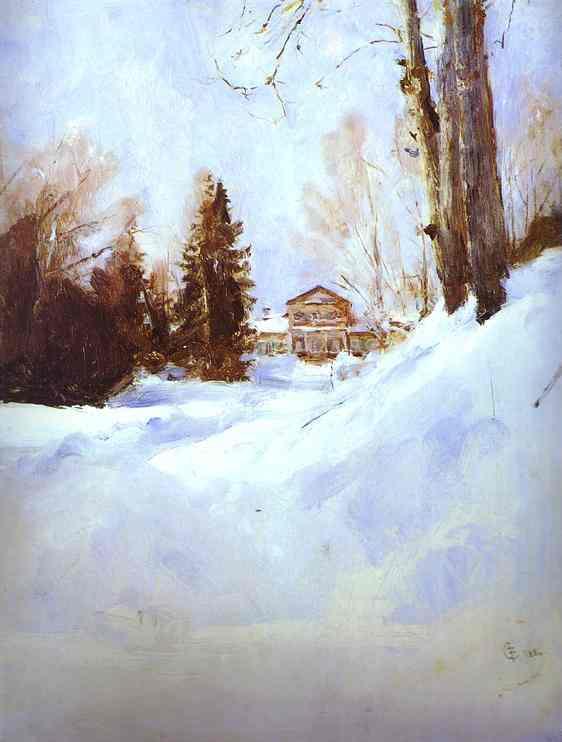 Valentin Aleksandrovich Serov. Зима в Абрамцеве