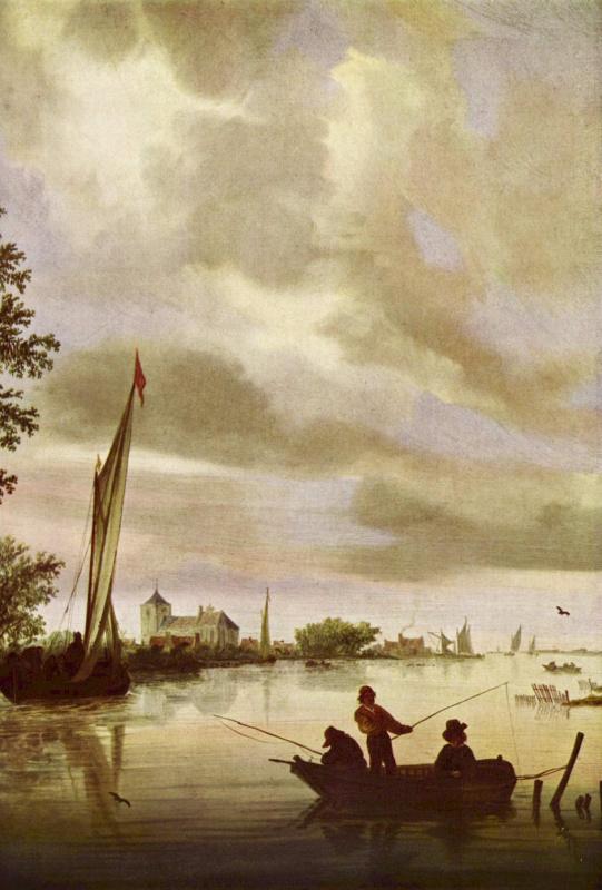 Саломон ван Рейсдал. Речной пейзаж