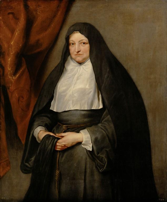 Anthony van Dyck. Isabella Clara Eugenia in monastic garb