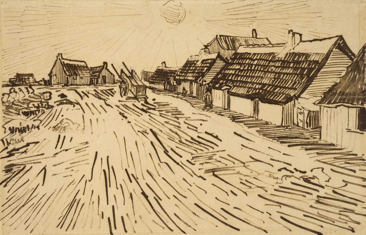Винсент Ван Гог. Дома на солнце в Ле-Сент-Мари-де-ла-Мер