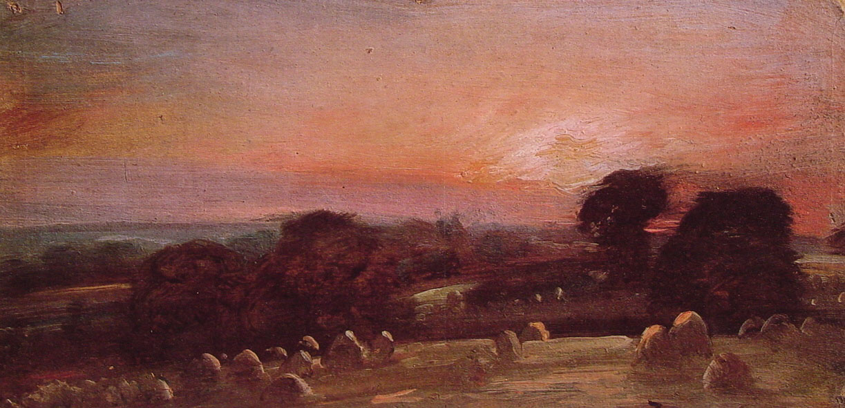 John Constable. Field in Eastern Bergholt at sunset