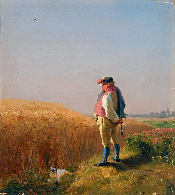 Karl Spitzweg. The Grain farmer from Uffing near Murnau in Upper Bavaria