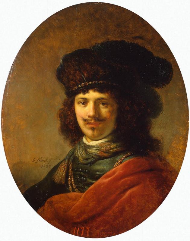 Gowert Flink. Portrait of a young man