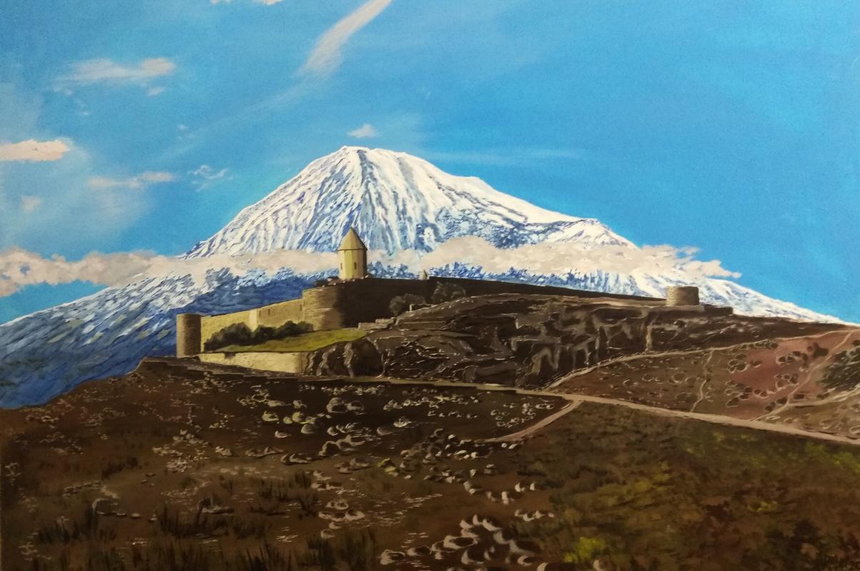 Vladimir Adamovich Ropot. Ararat. Armenian monastery Khor Virap