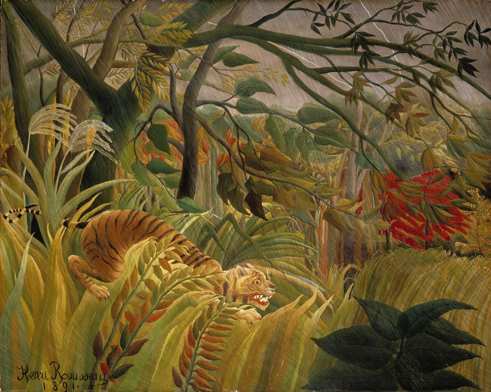 Henri Rousseau. Tiger in a tropical storm