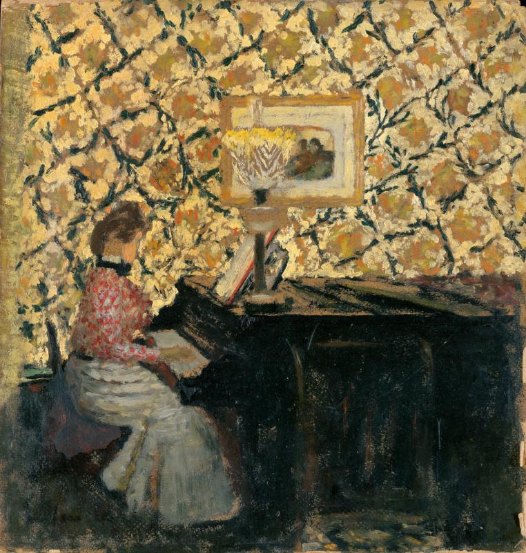 Jean Edouard Vuillard. Missia at the piano