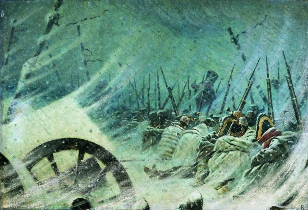 Vasily Vereshchagin. Night halt of the great army
