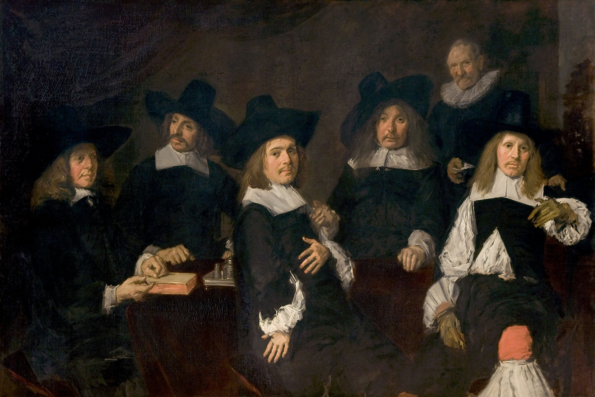 Frans Hals. Group portrait of the Regents of the asylum for the aged in Harlem