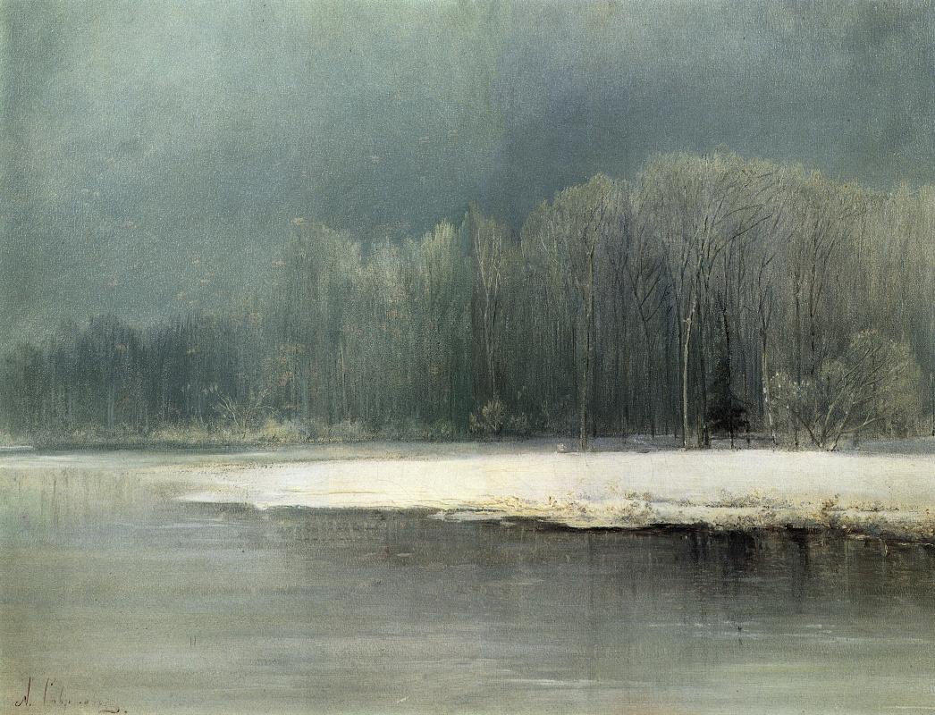 Alexey Savrasov. Winter landscape. Frost